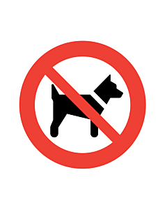 No Dogs Labels