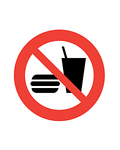 No Eating or Drinking Labels