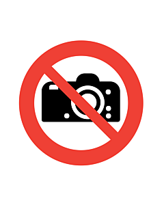 No Photography Labels