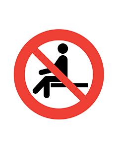No Sitting Labels