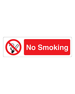 No Smoking Stickers 150x43mm