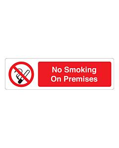 No Smoking On Premises Labels (150x43mm)