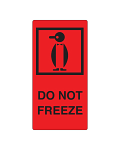 Do Not Freeze Labels 75x150mm