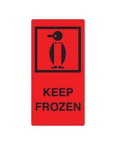 Keep Frozen Labels 75x150mm