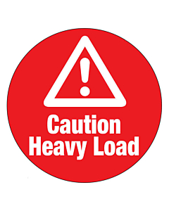 Caution Heavy Load Labels 50mm