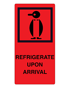 Refrigerate Upon Arrival Labels 75x150mm