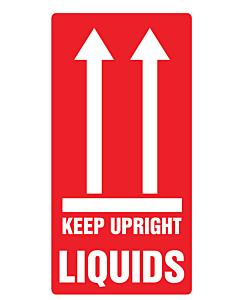 Liquids Keep Upright Labels 75x150mm
