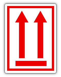 Red This Way Up Labels