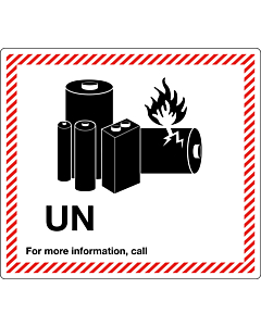 UN Lithium Battery Shipping Labels 120x110mm