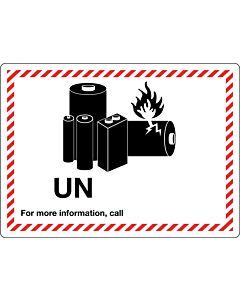 UN Lithium Battery Shipping Labels 105x74mm