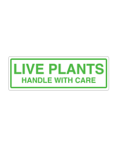 Live Plants Handle with Care Labels 150x50mm