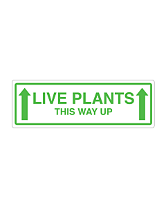 Live Plants This Way Up Labels 150x50mm