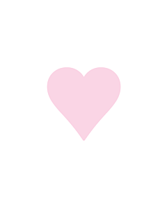 Pink Heart Stickers 15x15mm