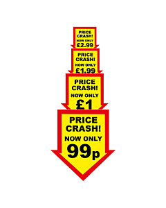 Price Crash Labels 44x47mm