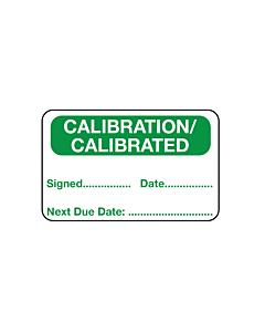 Calibration Labels 40x25mm