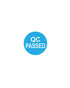 QC Passed Labels 10mm (204 labels per pack)