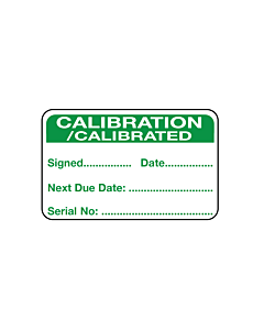 Calibration Labels with Serial Number 40x25mm