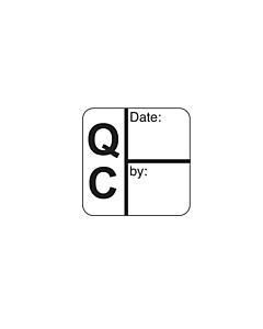 Black QC Date / Signature Labels