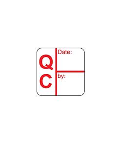 Red QC Date / Signature Labels