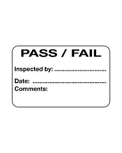 Pass / Fail Label (40x25mm) Permanent