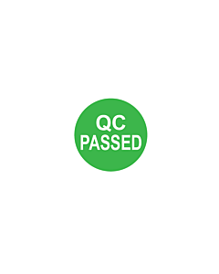 QC Passed Labels 10mm