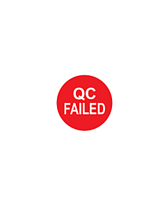 QC Failed Labels 10mm