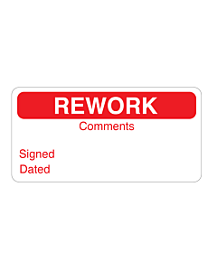 Red Rework Labels