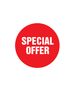 Red Special Offer Stickers