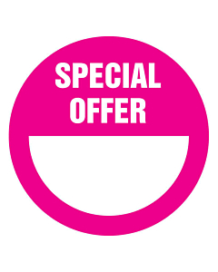 Magenta Special Offer Stickers