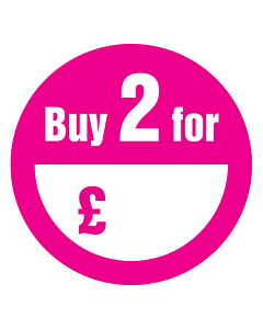 Buy 2 for £ Stickers 50mm