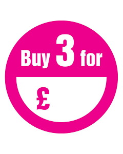 Buy 3 for £ Stickers 50mm