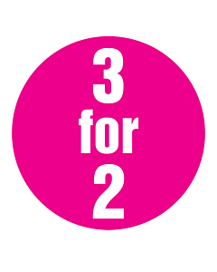 Magenta 3 for 2 Stickers