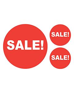 Sale Stickers 50 & 24mm