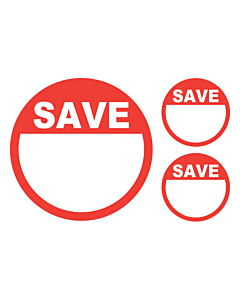 Save Stickers 50 & 24mm