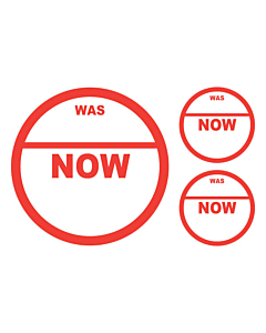 Was / Now Stickers 50 & 24mm