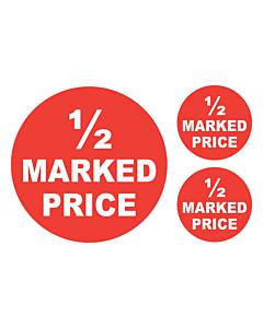 Half Price Stickers 50 & 24mm