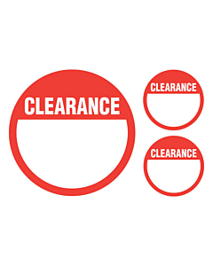 Clearance Stickers 50 & 24mm