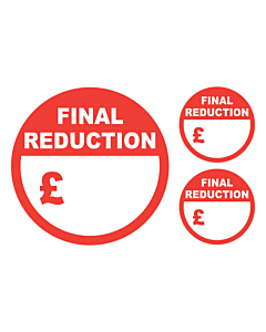 Final Reduction Stickers 50 & 24mm