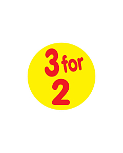 Yellow 3 for 2 Stickers