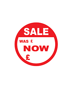 Sale Was / Now Stickers