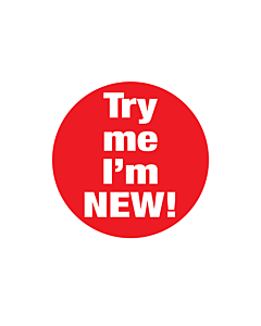 Try Me I'm New Stickers