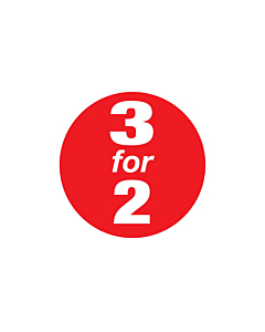 Red 3 for 2 Stickers