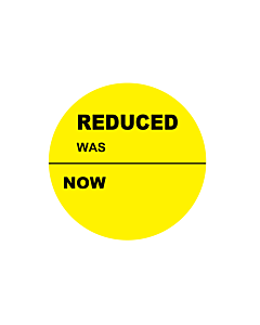 Reduced Was / Now Stickers