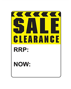 Sale Clearance RRP / Now Stickers