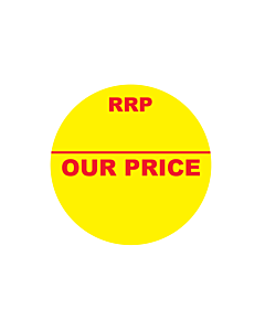 RRP / Our Price Stickers 30mm