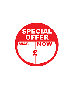 Special Offer Was / Now Stickers