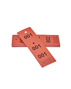 3-Part Cloakroom Tickets