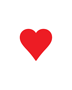 Red Heart Stickers 15x15mm