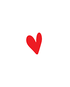 Red Heart Stickers 5x7mm