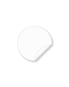 15mm Biodegradable Clear Seal Sticker